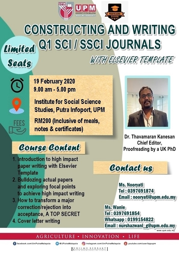 Constructing and writing Q1 SCI / SSCI Journals with Elsevier Template